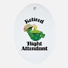 Retired Flight attendant Ornament (Oval)