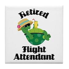 Retired Flight attendant Tile Coaster