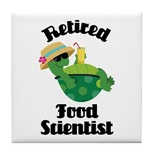 Retired Food scientist Tile Coaster