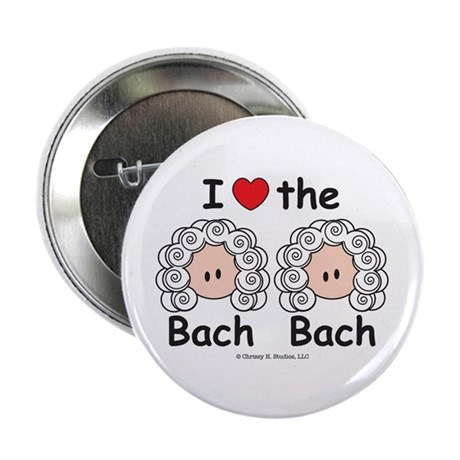 """I Love the Bach Double 2.25"""" Button (10 pack)"""
