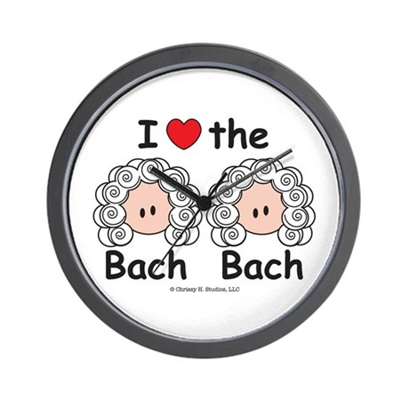 I Love the Bach Double Wall Clock