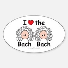 I Love the Bach Double Oval Decal