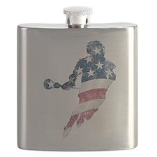 Cute Lacrosse Flask