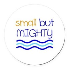 Small but MIGHTY Round Car Magnet