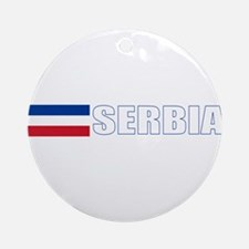 Serbia Flag (Dark) Ornament (Round)