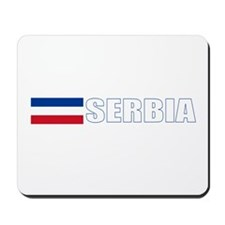 Serbia Flag (Dark) Mousepad