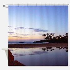 Waimea Bay Beach Lagoon Tropical Shower Curtain