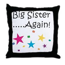 Big Sister Again! Throw Pillow