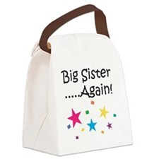 Big Sister Again! Canvas Lunch Bag