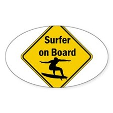 Surfer on Board Decal