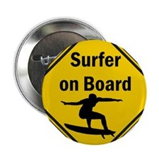 "Surfer on Board 2.25"" Button"