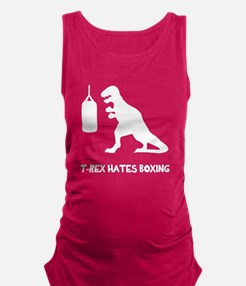T Rex Hates Boxing Maternity Tank Top