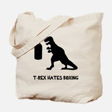 T Rex Hates Boxing Tote Bag