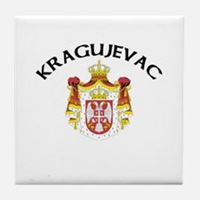 Kragujevac, Serbia & Monteneg Tile Coaster