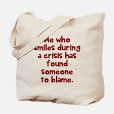 He who smiles Tote Bag