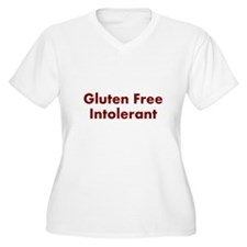 Gluten Free Intolerant Plus Size T-Shirt