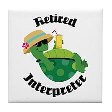 Retired Interpreter Tile Coaster