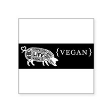 Words to Live By pig, black Sticker