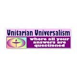"Unitarian universalist 3"" x 10"""