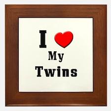 I Love Twins Framed Tile