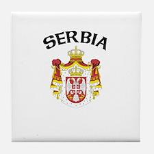 Serbia Coat of Arms Tile Coaster