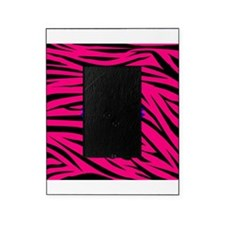Bright Blue Flower on Hot Pink Zebra Picture Frame