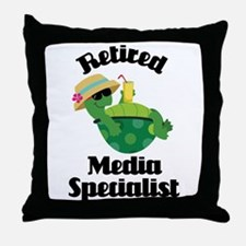Retired media specialist Throw Pillow