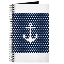 White and Navy Blue Anchor Journal