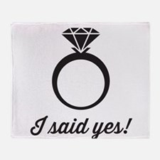 I Said Yes! Throw Blanket