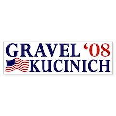 Gravel-Kucinich '08 Bumper Bumper Sticker