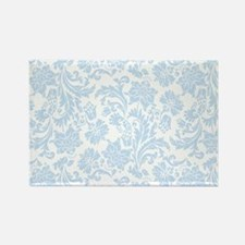 Sky Blue and White Damask Magnets