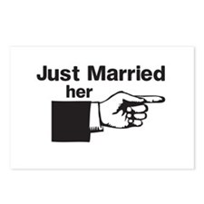 Just Married Her Postcards (Package of 8)