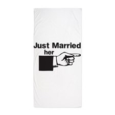 Just Married Her Beach Towel