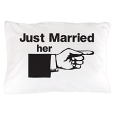 Just Married Her Pillow Case