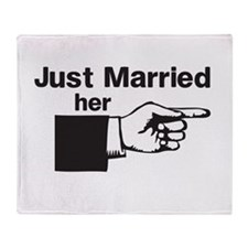 Just Married Her Throw Blanket