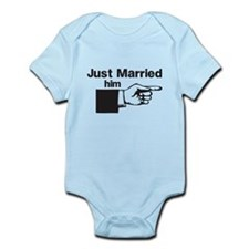 Just Married Him Body Suit
