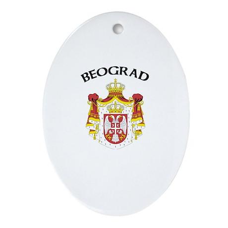 Beograd, Serbia & Montenegro Oval Ornament