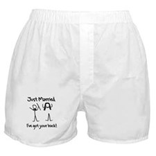 Just Married, Ive Got Your Back Boxer Shorts