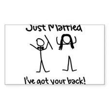 Just Married, Ive Got Your Back Decal