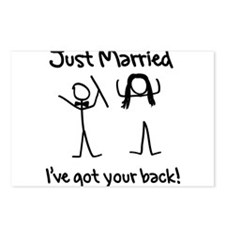 Just Married, Ive Got Your Back Postcards (Package