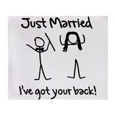 Just Married, Ive Got Your Back Throw Blanket