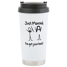 Just Married, Ive Got Your Back Travel Mug