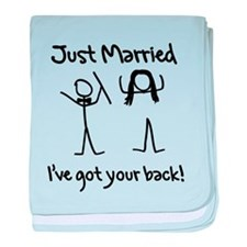 Just Married, Ive Got Your Back baby blanket