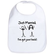 Just Married, Ive Got Your Back Bib