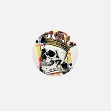 King of Spades Skull Mini Button (10 pack)