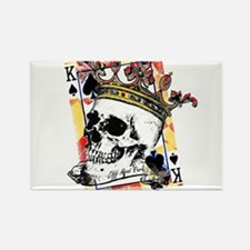 King of Spades Skull Magnets