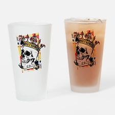 King of Spades Skull Drinking Glass