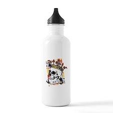 King of Spades Skull Water Bottle