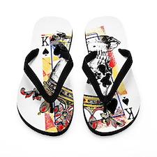 King of Spades Skull Flip Flops