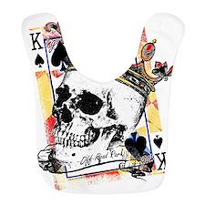 King of Spades Skull Bib